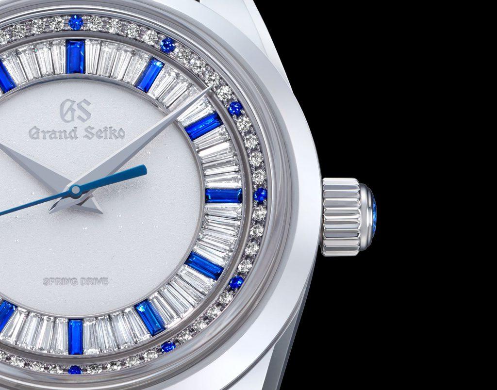 גרנד סייקו SBGD205 עם שיבוץ יהלומים. מקור - Watchesbysjx.