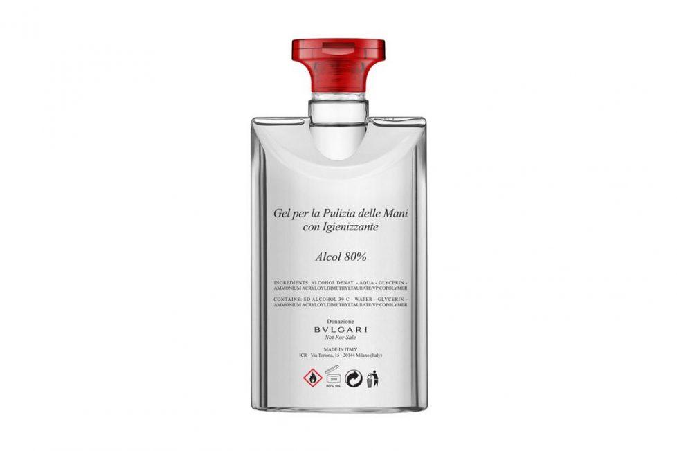 יצרניות השעונים בתקופת וירוס הקורונה - בולגרי מייצרת אלכוג'ל בתרומה למערכת הבריאות באיטליה. מקור - בולגרי.