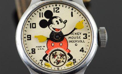 שעון מיקי משובץ יהלומים מסדרת הפנטזיה של גנטה. מקור- catawiki