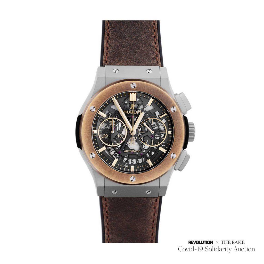 שעון ההובלו אירו-פיוז'ן שנמכר במסגרת המכירה הפומבית Covid-19 Solidarity Auction. מקור - TimeandWatches.