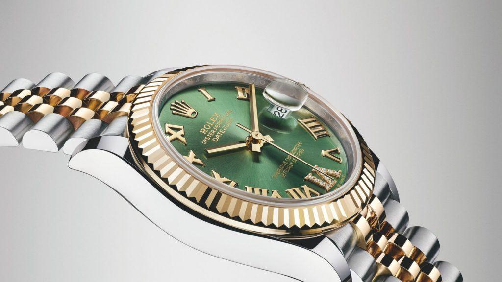 הלוגו של רולקס על לוח שעון דייטג'אסט 31. מקור - באזלוורלד.