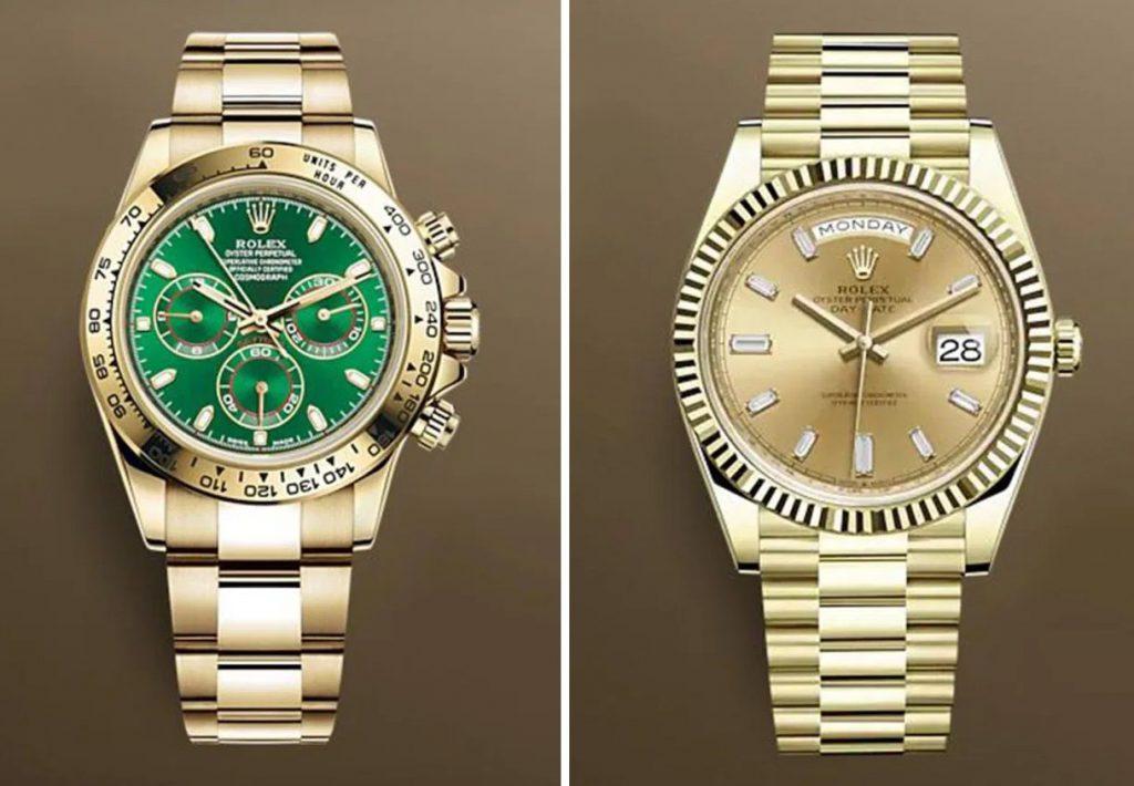 שעוני הרולקס אשר נגנבו מביתו של ריאד מחרז. מקור - WatchPro.