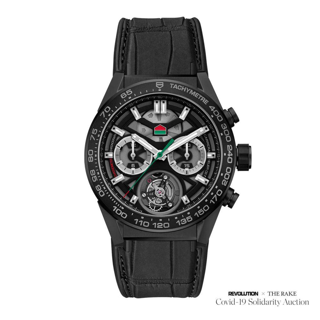 Covid-19 Solidarity Auction - שעון ייחודי של טאג הויר עם סמל החברה הפוך. מקור - TimeandWatches.