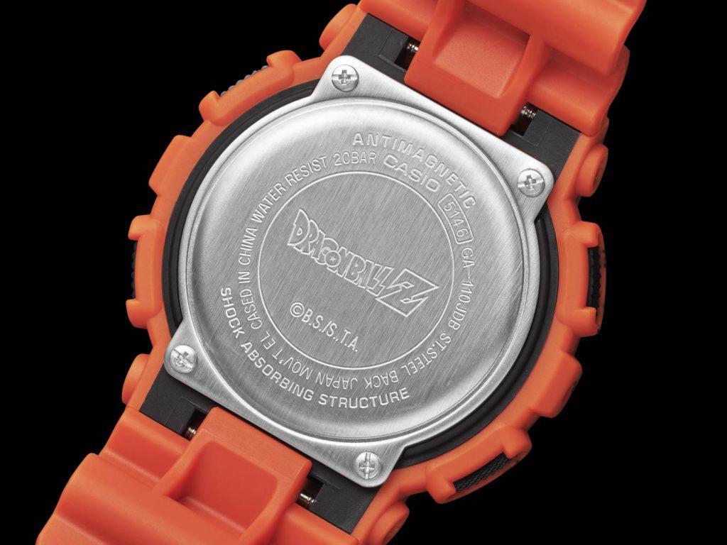 גב השעון עם הכיתוב DragonBallZ. מקור - WatchPro.