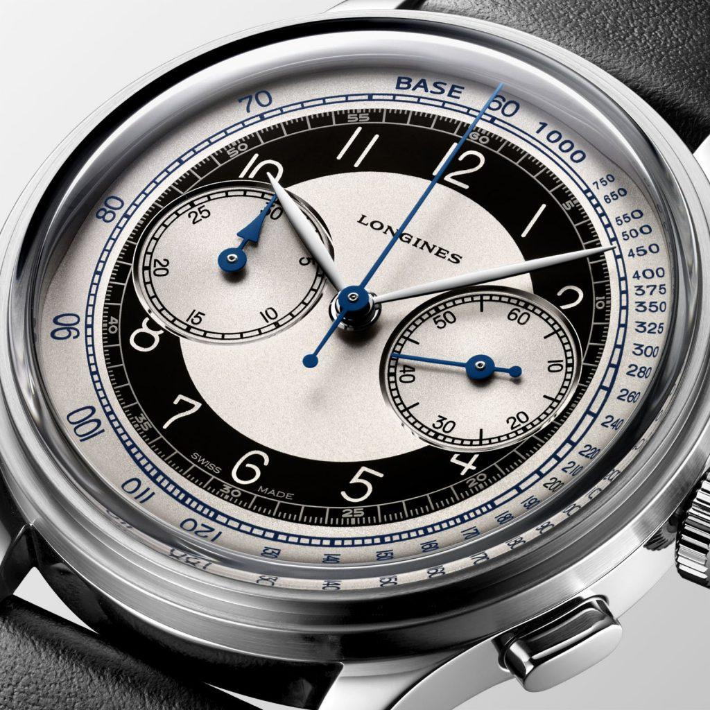 לוח הטוקסידו של דגם הכרונוגרף. מקור - Monochrome Watches.