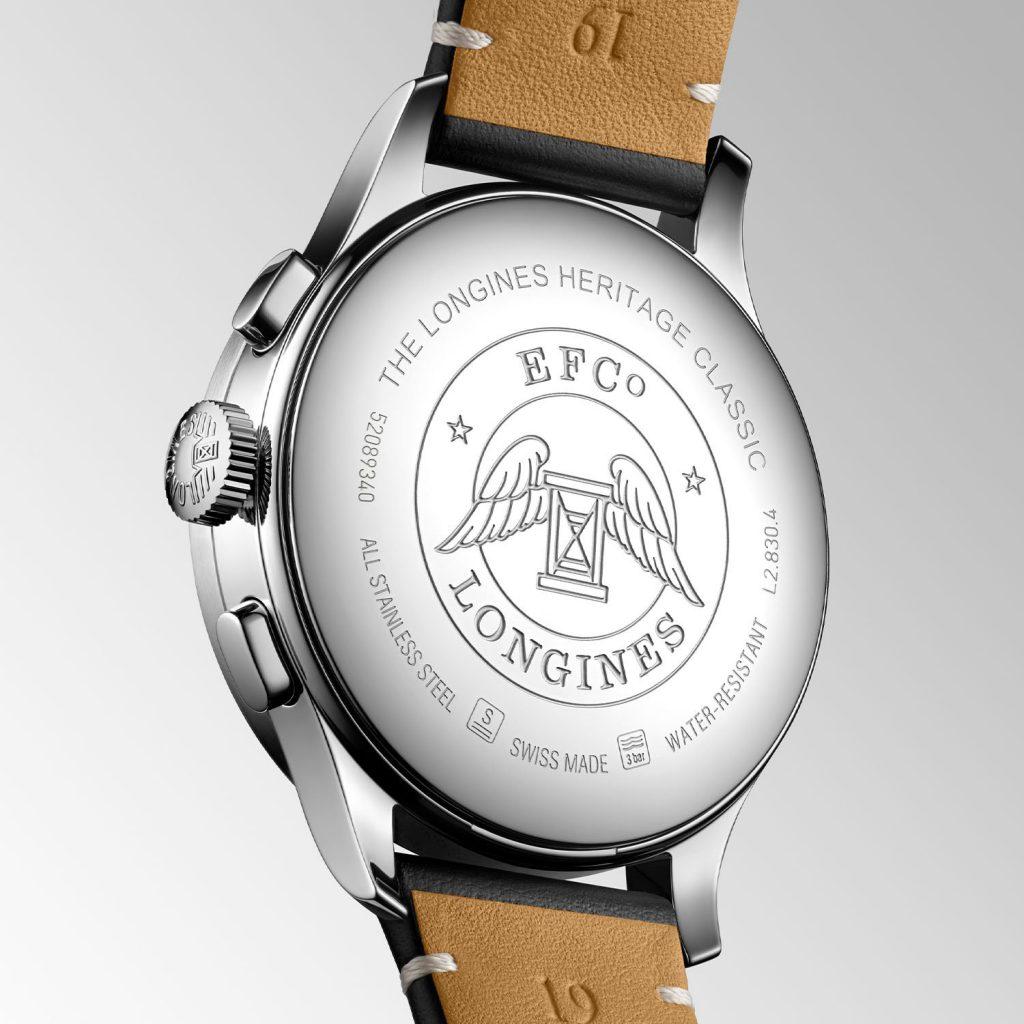 גב השעון של דגם הכרונוגרף. מקור - Monochrome Watches.