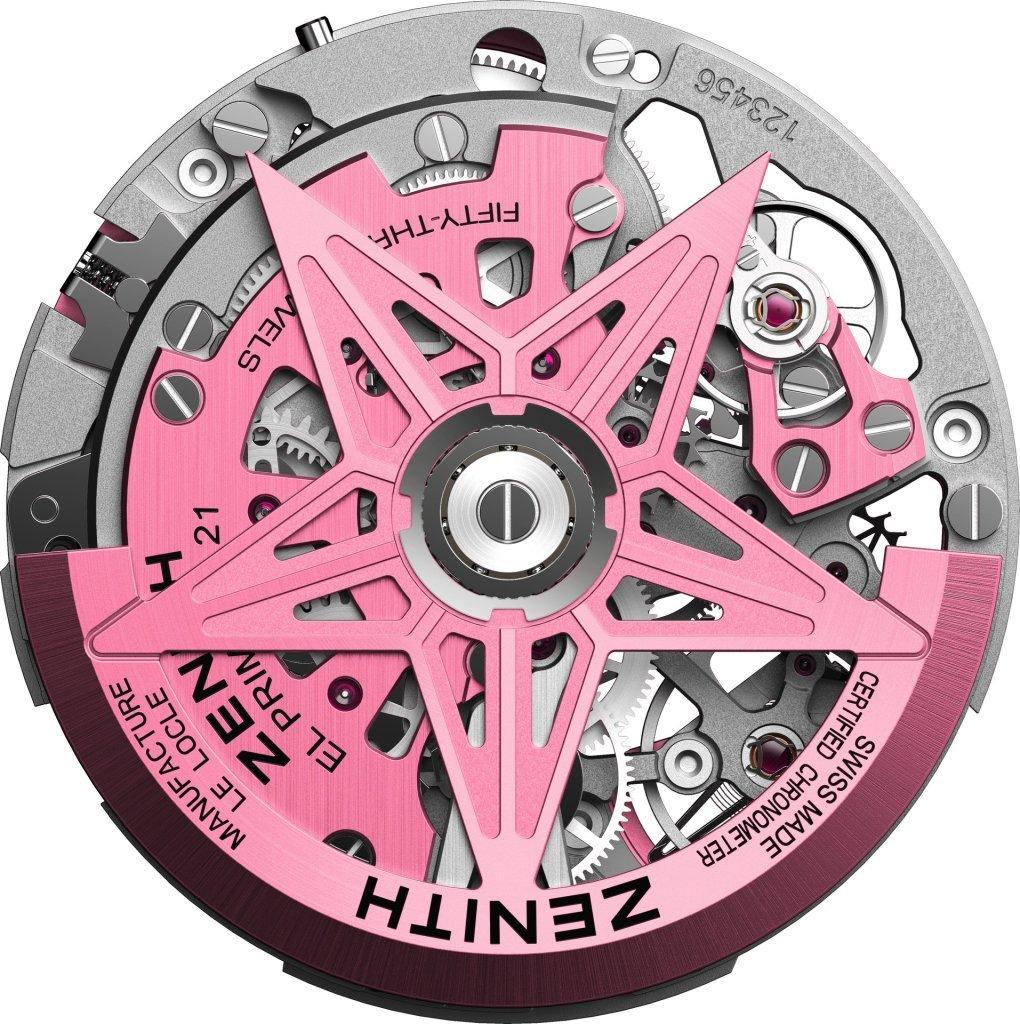 המנגנון הורוד של השעון. מקור - Watchilove.