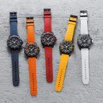 שעוני סדרת ה-Endurance Pro עם רצועת הגומי. מקור - Fratello Magazine.