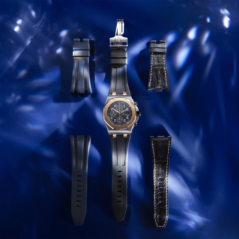 שלושת הרצועות שמגיעות עם השעון. מקור - Monochrome Watches.