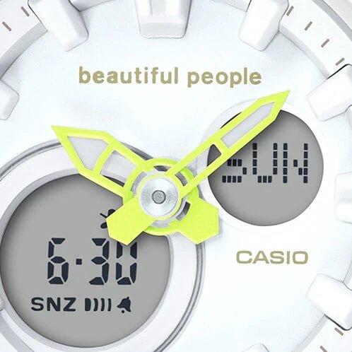 הלוגו של beautiful people על לוח השעון. מקור - קסיו.