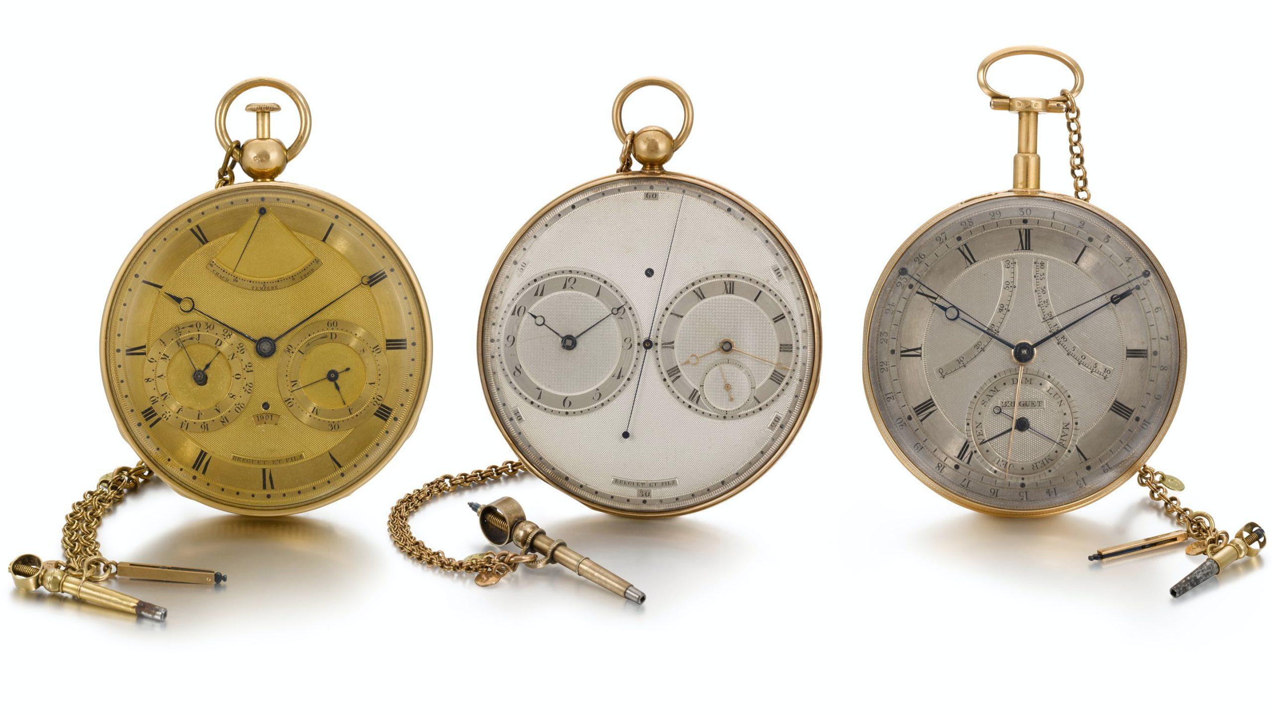 אוסף השעונים של דיוויד ליונל סלומונס - שלושה שעוני ברגה המוצעים למכירה על ידי המוזיאון לאומנות האיסלאם. מקור - Hodinkee.