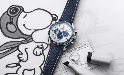 "ספידמאסטר ""Silver Snoopy Award"" שנת ה-50. מקור - Monochrome Watches."