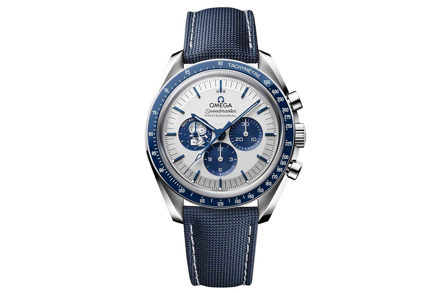 """ספידמאסטר """"Silver Snoopy Award"""" שנת ה-50. מקור - Monochrome Watches."""