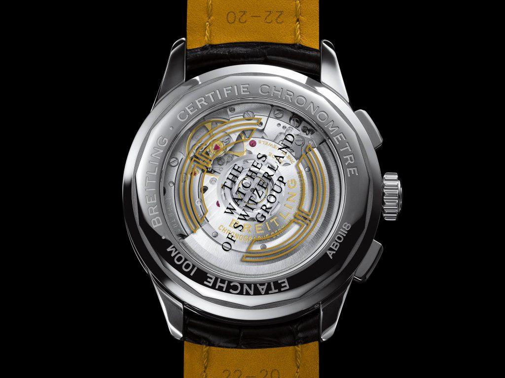 הכיתוב The Watches Of Switzerland Group בגב השעון. מקור - Hautetime.