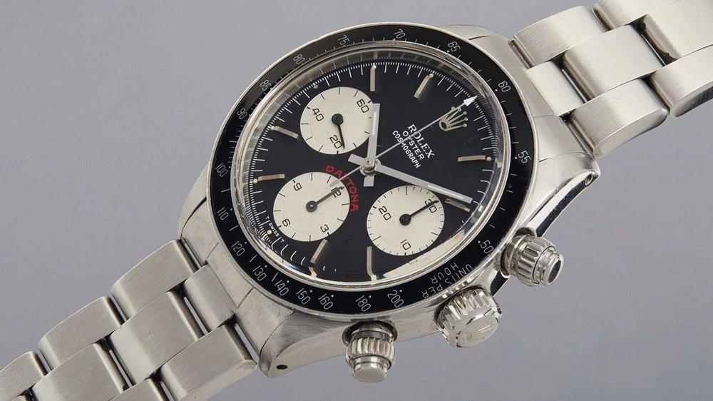 """שני שעונים אייקוניים ונדירים במכירה פומבית. רולקס דייטונה """"ביג רד"""" של פול ניומן. מקור - פיליפס."""