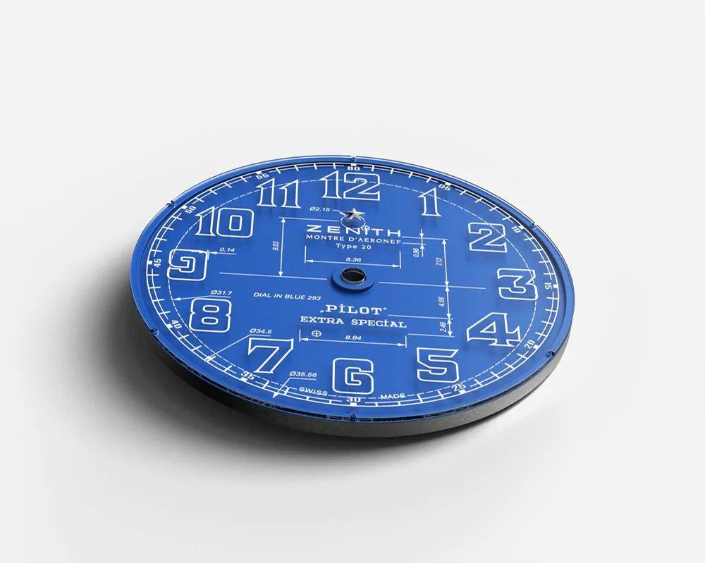 """הכוכב של זניט """"מרחף"""" מעל לוח השעון. מקור - זניט."""