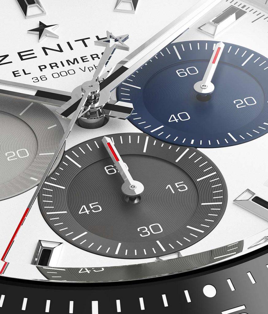 מחוג שניות הכרונוגרף משלים סיבוב כל 10 שניות. מקור - TimeandWatches.