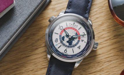 שעון FARER UNIVERSAL WORLD TIMER. מקור - אתר החברה.