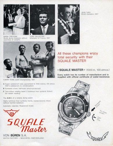 פרסומת ישנה של SQUALE. מקור - SQUALE.