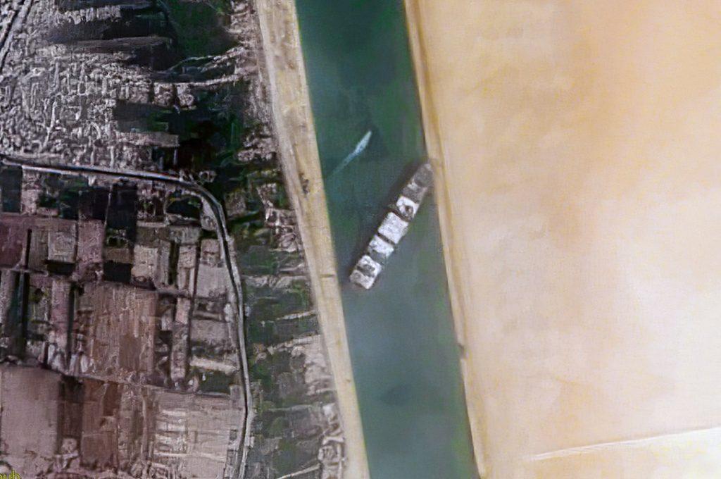 הספינה התקועה בתעלת סואץ. מקור - ויקיפדיה.