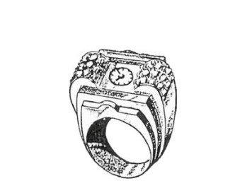 שעון טבעת של EBEL. מקור - ברושור של החברה.
