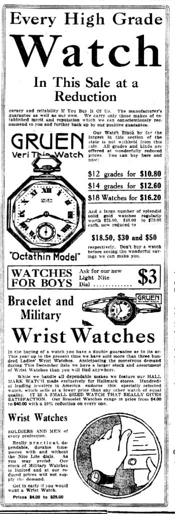 מודעה של החברה משנת 1917. מקור - ויקיפדיה.