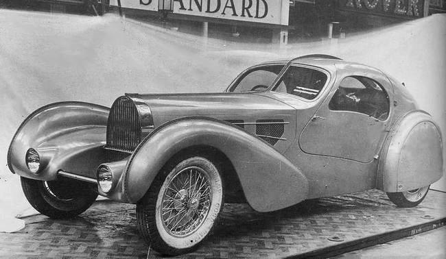 מכונית של בוגאטי בעיצוב בהשראת הארט דקו. מקור - ויקיפדיה.