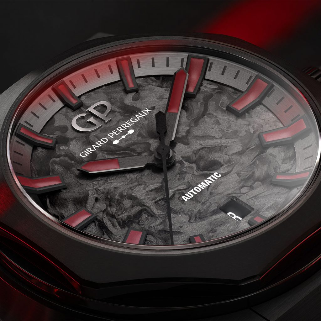 הלוח המרהיב המגיב לתאורת אינפרה אדום. מקור - Monochrome Watches.