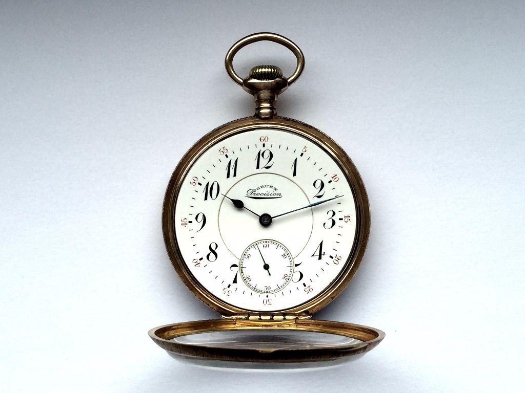 שעון כיס PRECISION של גרואן. מקור - GRUEN.WATCH.