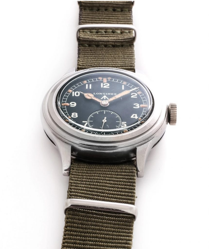 שעון של לונג'ין ממלחמת העולם השנייה שעוד נחזור אליו. מקור - ACOLLECTEDMAN.