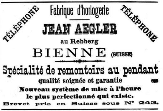 הסוד הגדול של רולקס - פרסומת של אגלר משנת 1890. מקור - VintageWatchStraps.