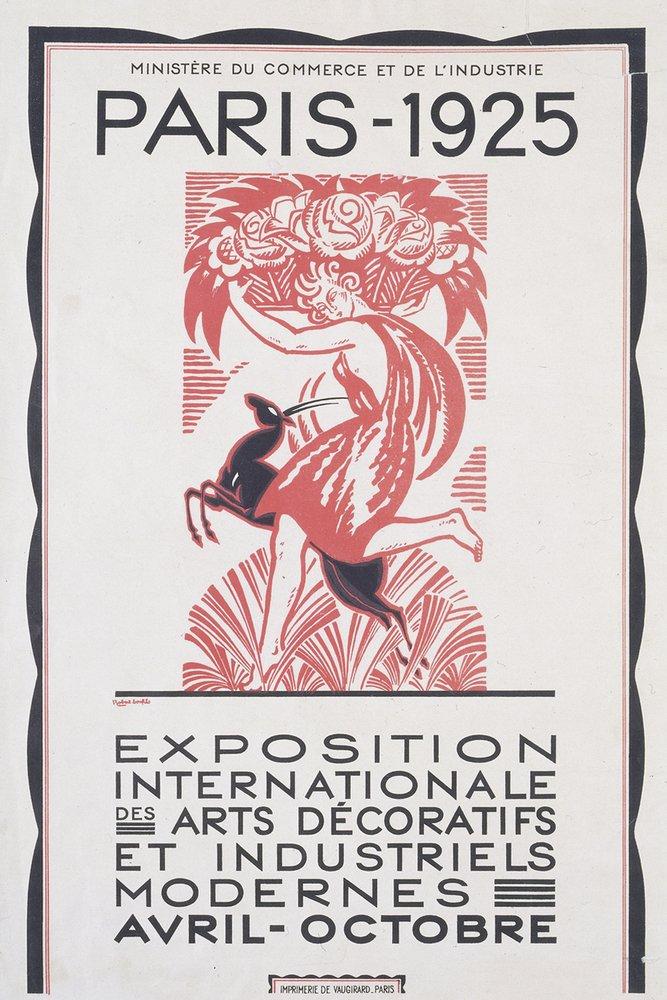 כרזת תערוכת Exposition Internationale des Arts Décoratifs et Industriels Modernes. מקור - Archdaily.