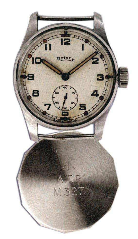 שעון יד של רוטרי ממלחמת העולם השניה עבור הצבא הבריטי. מקור - FIRSTCLASSWATCHES.