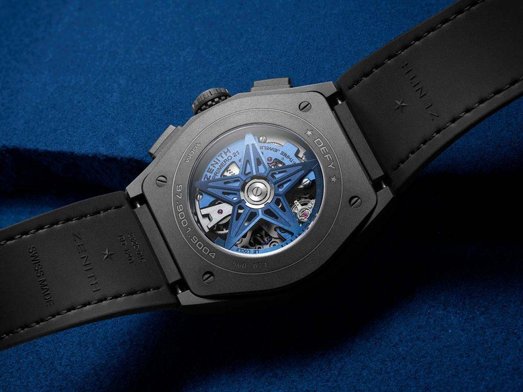 מנגנון האל פרימרו 9004 בגב השעון. מקור - TimeandWatches.