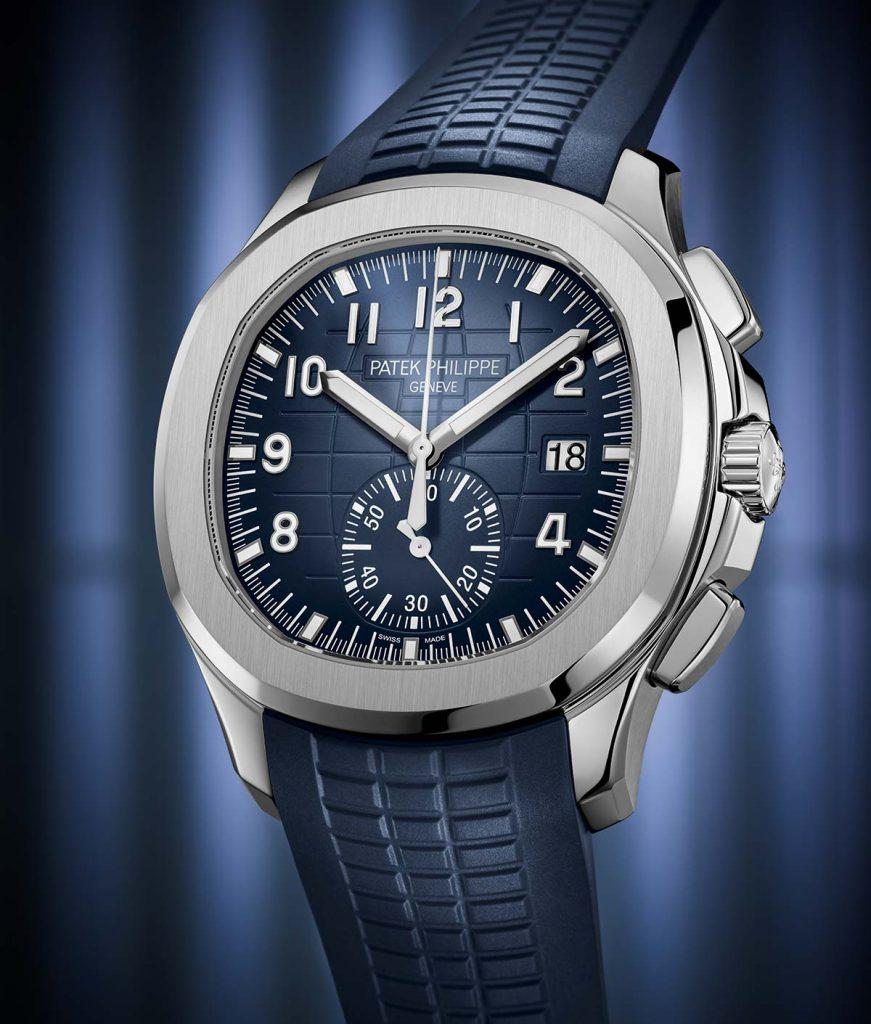 שעון הכרונוגרף הראשון בזהב לבן בסדרת האקוונאוט. מקור - TimeandWatches.