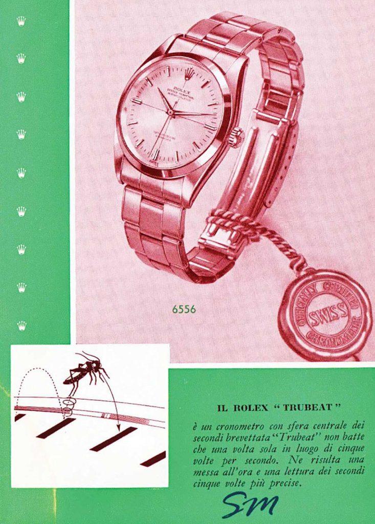 """קומפליקציית """"השנייה המתה"""" - פרסומת של רולקס לשעון TRUBEAT. מקור - REVOLUTION."""