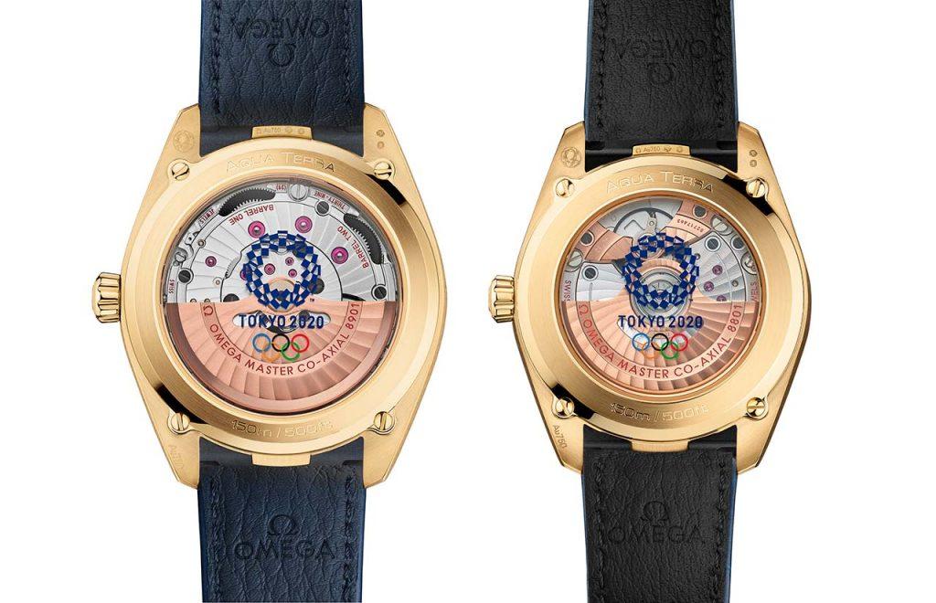 גב השעונים עם סמל האולימפיאדה. מקור - TIMEANDWATCHES.