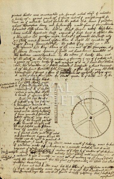 """קומפליקציית """"השנייה המתה"""" - המכתב של ג'ון פלמסטיד לריצ'רד טאונלי. מקור - royalsociety.org."""