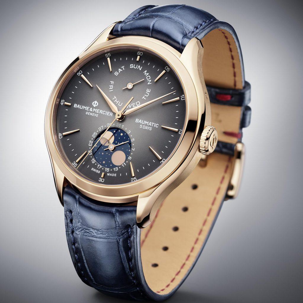 מצב ירח - מון פייז - שעון הקליפטון מון פייז של בום מרסייה. מקור - Hodinkee.