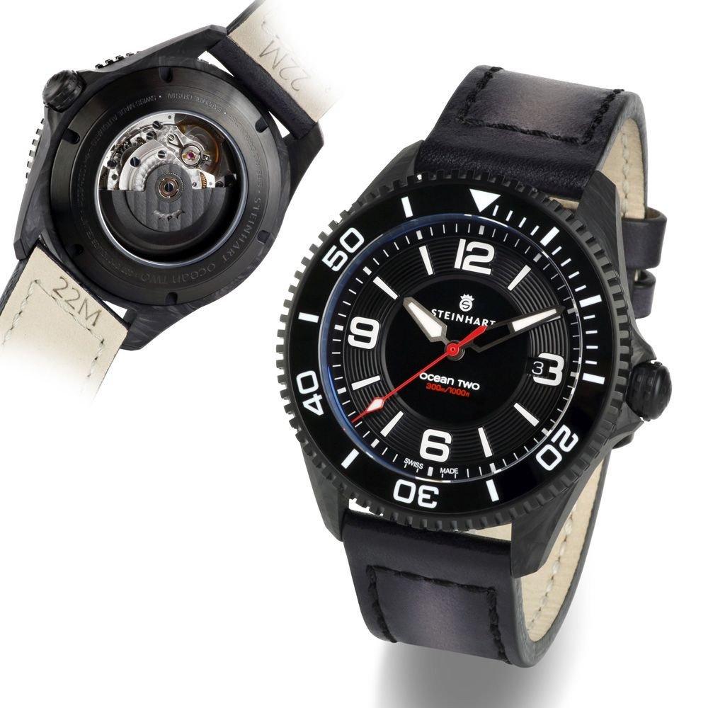 שעון ה-OCEAN 2 של החברה בגוף העשוי מפחמן. מקור - אתר החברה.
