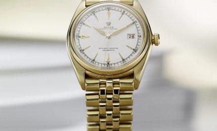 הקומפליקציה הבסיסית ביותר - התאריכון - שעון הדייטג'אסטהראשון משנת 1945. מקור - רולקס.