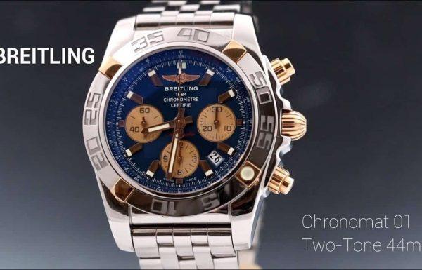ברייטלינג כרונומט 01 טו טון פלדה משולב זהב Breitling Chronomat 01 Two Tone Steel & 18K Gold IB0110