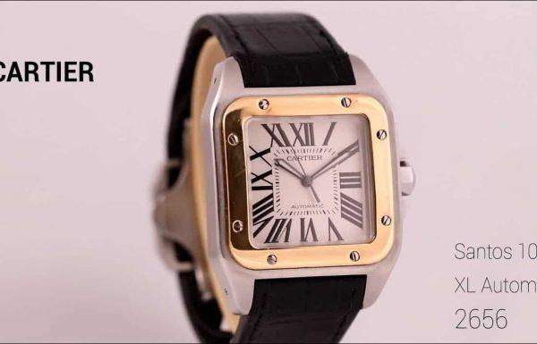קרטיה סנטוס 100 XL משולב זהב 2656 Cartier Santos XL 100 Steel & Gold