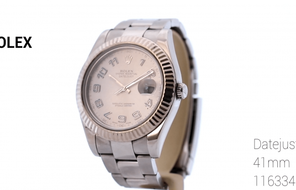 "רולקס דייטג'אסט II ספרות רגילות 41 מ""מ Rolex Datejust II Regular Numerals 41mm 116334"