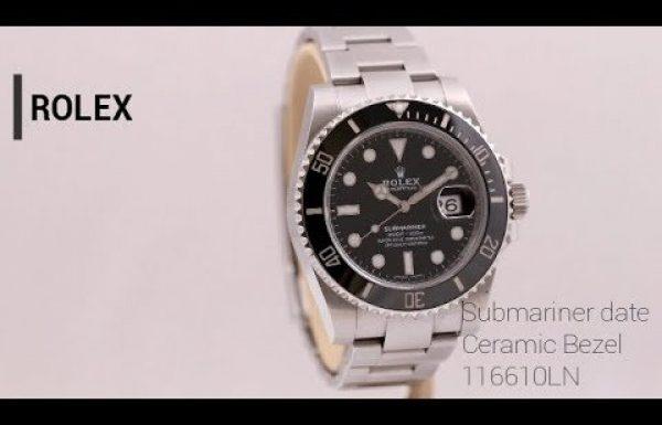 רולקס סאבמרינר דייט פלדה בזל קראמי 116610 Rolex Submariner Date Steel Ceramic Bezel [ווטש גורו 360]