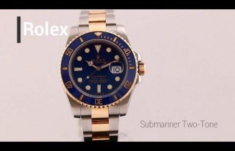 רולקס סאבמרינר כחול קרמי טוטון 116613 Rolex Submariner Blue Ceramic Two-tone