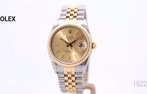 רולקס דייט טוטון זהב ופלדה 15223 Rolex Date Two-tone Steel & Gold