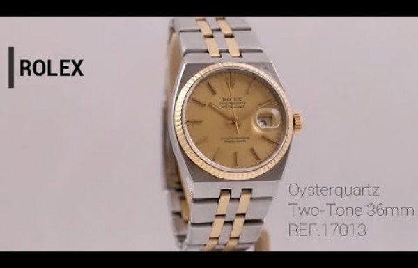 רולקס אויסטר קוורץ משולב זהב 17013 Rolex Oysterquartz Two Tone
