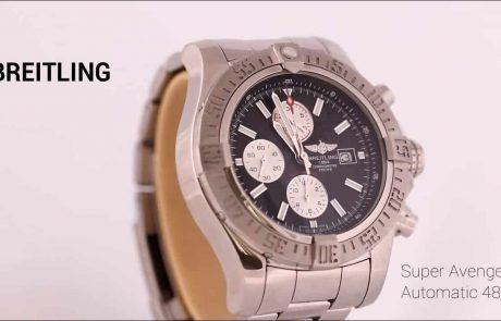 """ברייטלינג סופר אוונג'ר 2 כרונוגרף 48 מ""""מ Breitling Super Avenger 2 Chronograph"""