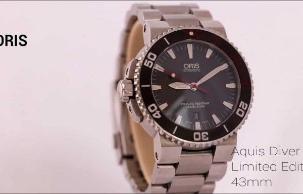 """אוריס אקוויס מהדורה מוגבלת 43 מ""""מ אוטומטי Oris Aquis Diver Limited edition Automatic 43mm 7653-83"""